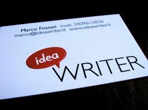 bigliettino da visita ideawriter