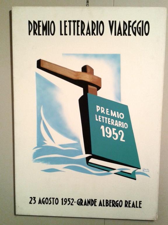 Manifesto del premio letterario Viareggio.