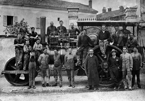 """Primo compressore costruito dalla ditta """"Ronchi"""" (Filipitt) di Concorezzo."""