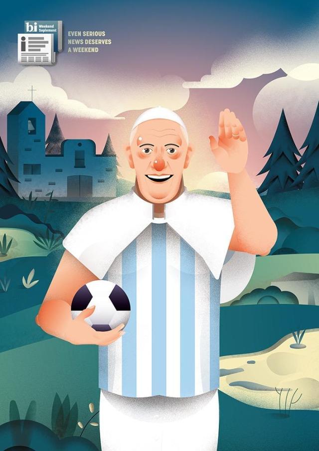 papa francesco sport calcio